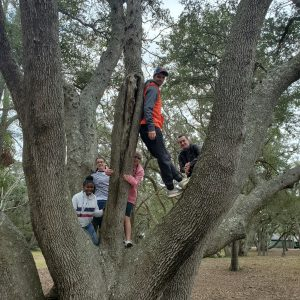 Photo of Cornerstone Kids in tree by Pastor Bo Wagner